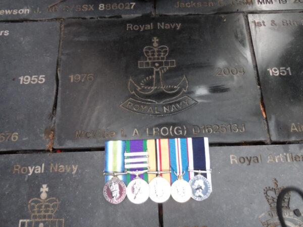 Veterans Walkway Granite Stone